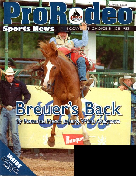Pro Rodeo Sports News Cover - 5/22/2015