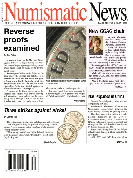 Numismatic News Cover - 7/30/2015