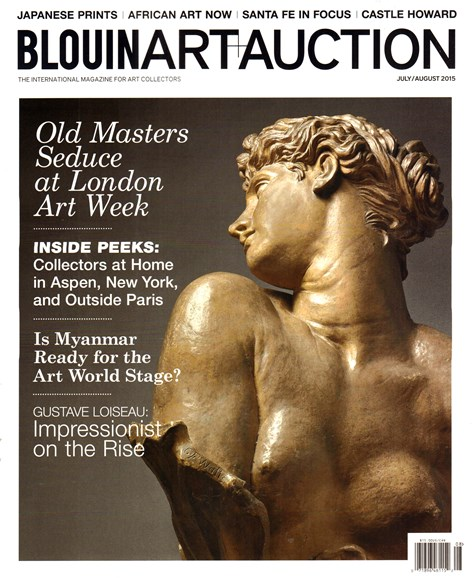 Blouin Art & Auction Cover - 7/1/2015