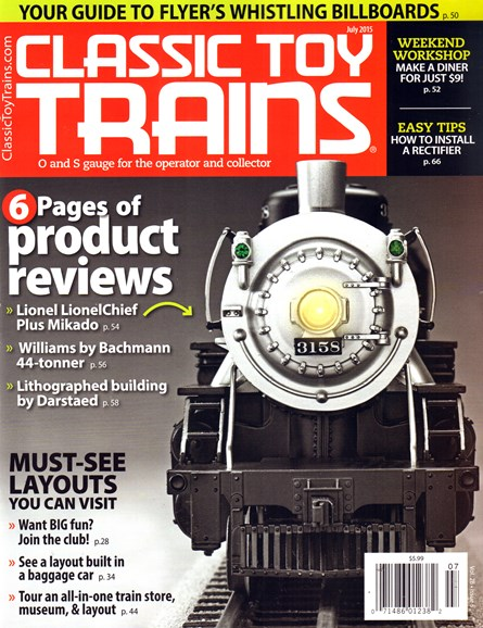Classic Toy Trains Cover - 7/1/2015