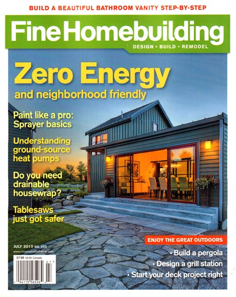Fine Homebuilding Cover - 7/1/2015
