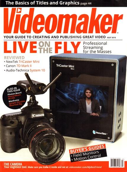 Videomaker Cover - 7/1/2015