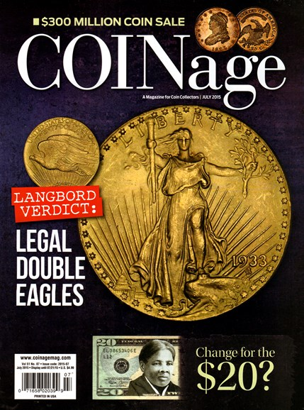 Coinage Cover - 7/1/2015