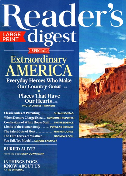 Reader's Digest - Large Print Edition Cover - 7/1/2015