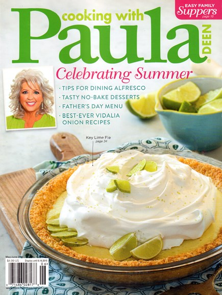 Cooking With Paula Deen Cover - 5/1/2015