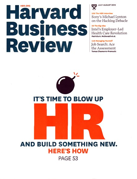 Harvard Business Review Cover - 7/1/2015
