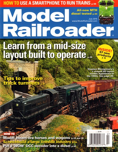 Model Railroader Cover - 7/1/2015