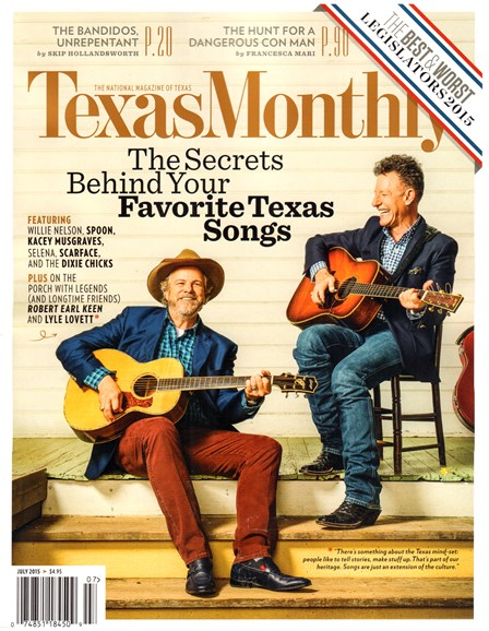 Texas Monthly Cover - 7/1/2015