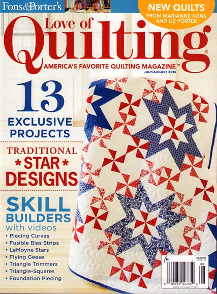 Fons & Porter's Love of Quilting Cover - 7/1/2015