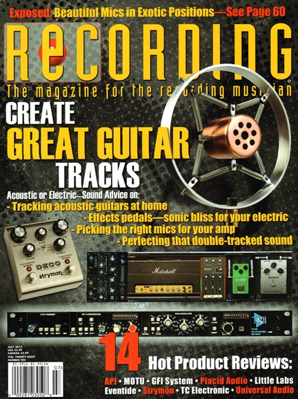 Recording Magazine Cover - 7/1/2015