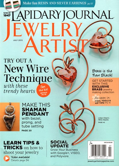 Lapidary Journal Jewelry Artist Cover - 7/1/2015