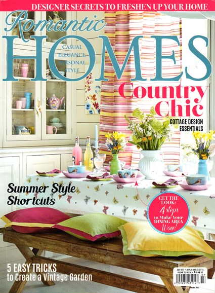 Romantic Homes Cover - 7/1/2015