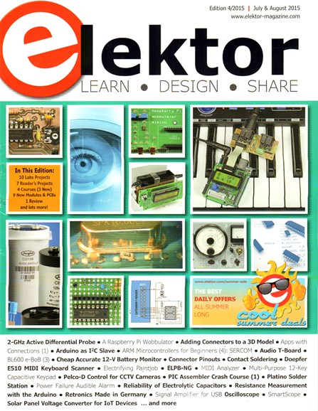 Elektor - North American Edition Cover - 7/1/2015