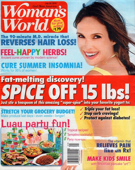 Woman's World Cover - 7/20/2015