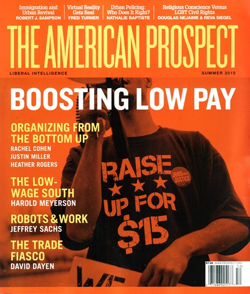 The American Prospect Cover - 6/1/2015