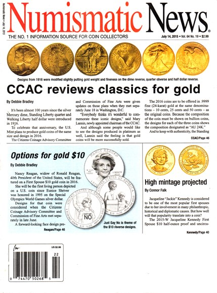Numismatic News Cover - 7/14/2015