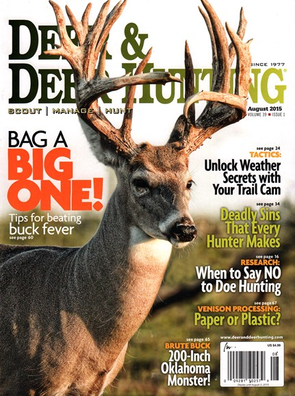 Deer & Deer Hunting Cover - 8/1/2015