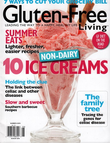Gluten-Free Living Cover - 8/1/2015