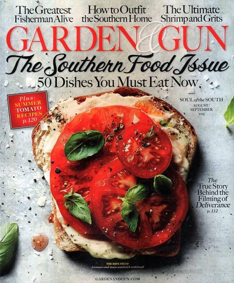 Garden & Gun Cover - 8/1/2015
