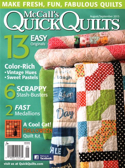 McCall's Quick Quilts Cover - 8/1/2015