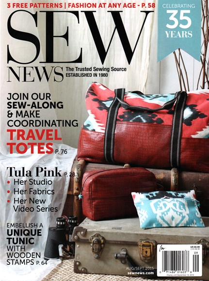 Sew News Cover - 8/1/2015