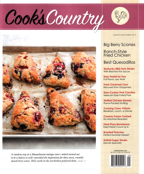 Cook's Country Cover - 8/1/2015