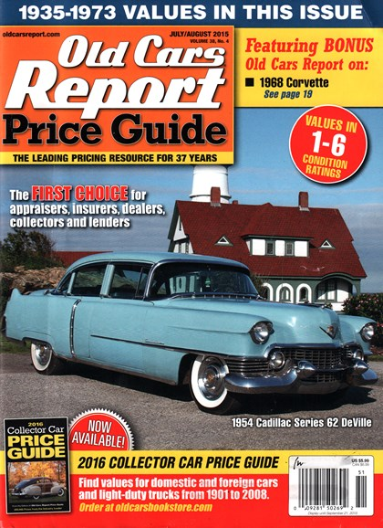 Old Cars Report Price Guide Cover - 7/1/2015