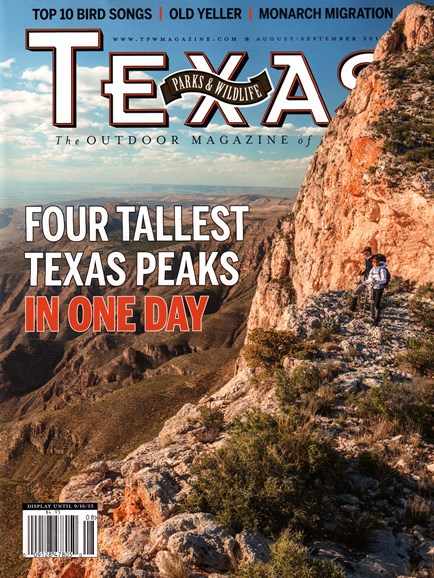 Texas Parks & Wildlife Cover - 8/1/2015