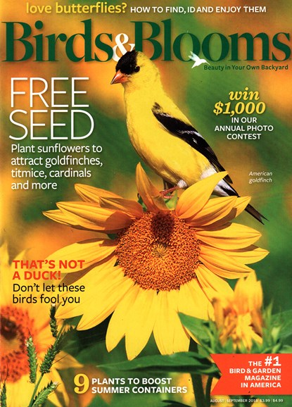 Birds & Blooms Cover - 8/1/2015
