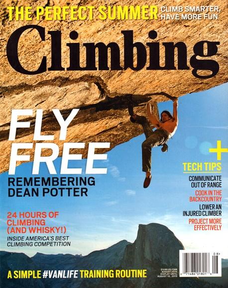 Climbing Magazine Cover - 8/1/2015