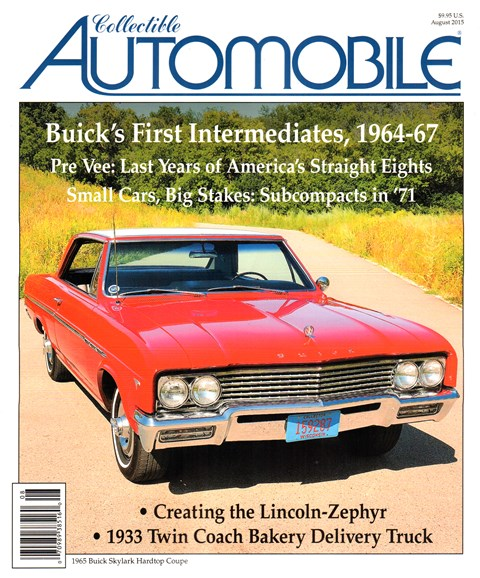 Collectible Automobile Cover - 8/1/2015