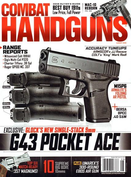 Combat Handguns Cover - 8/1/2015