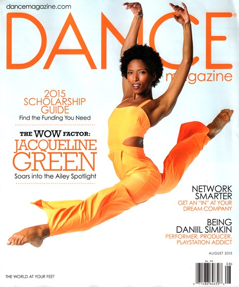 Dance Magazine Cover - 8/1/2015