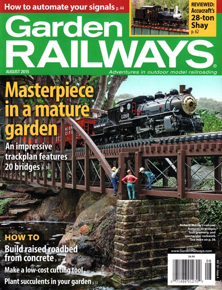 Garden Railways Cover - 8/1/2015