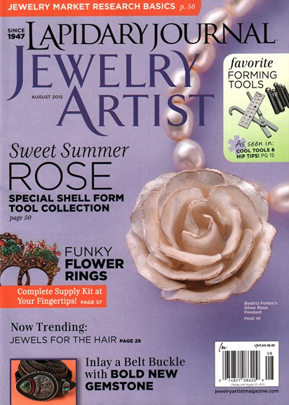 Lapidary Journal Jewelry Artist Cover - 8/1/2015