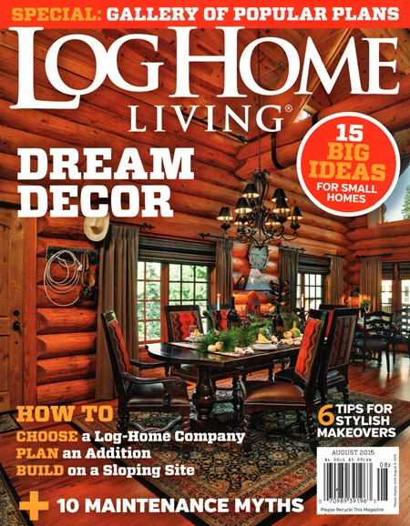Log Home Living Cover - 8/1/2015