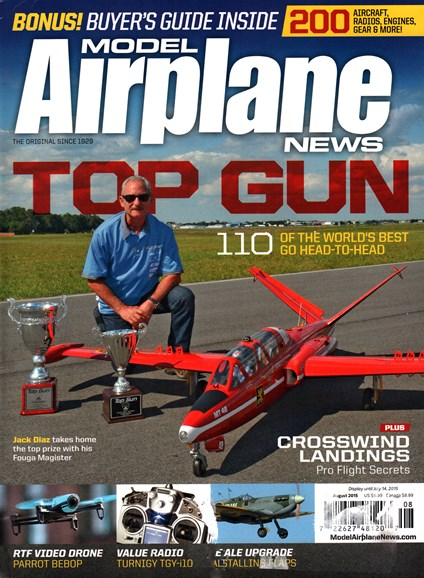 Model Airplane News Cover - 8/1/2015