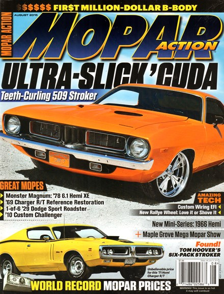 Mopar Action Cover - 8/1/2015