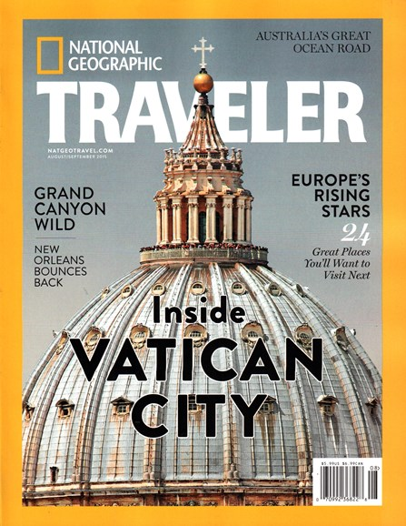 National Geographic Traveler Cover - 8/1/2015