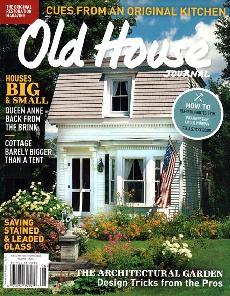 Old House Journal Cover - 8/1/2015