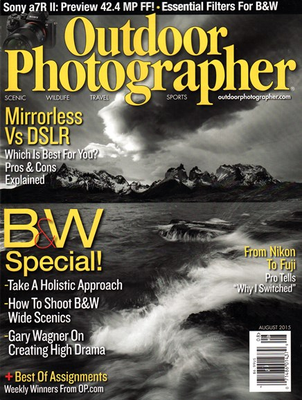 Outdoor Photographer Cover - 8/1/2015