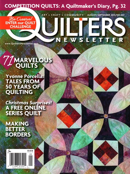 Quilter's Newsletter Cover - 8/1/2015