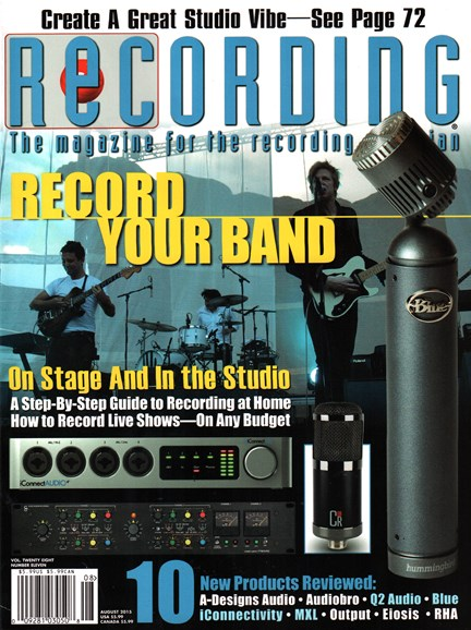 Recording Magazine Cover - 8/1/2015