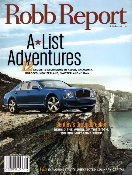 Robb Report Cover - 8/1/2015