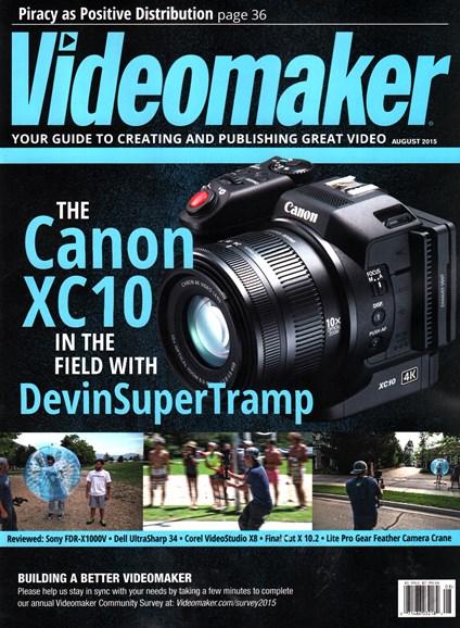 Videomaker Cover - 8/1/2015