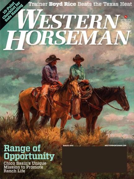 Western Horseman Cover - 8/1/2015