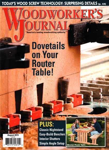 Woodworker's Journal Cover - 8/1/2015