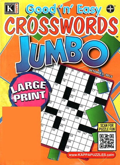 Good N Easy Crosswords Jumbo Cover - 10/5/2015
