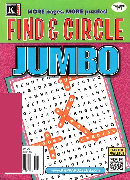 Find & Circle Jumbo Cover - 8/1/2015