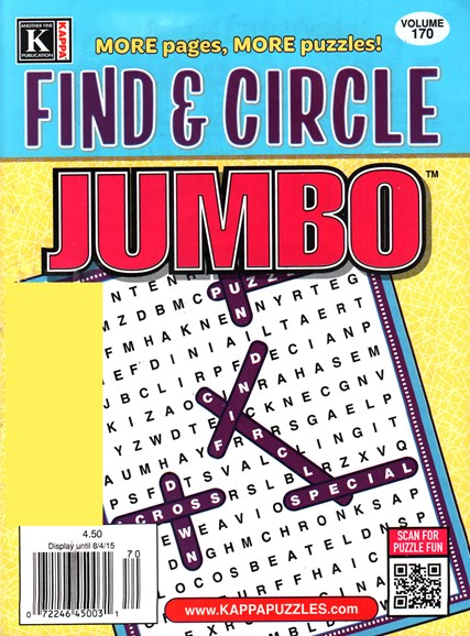 Find & Circle Jumbo Cover - 9/1/2015
